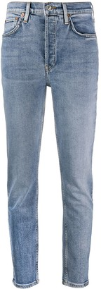 RE/DONE High-Waisted Slim-Fit Jeans