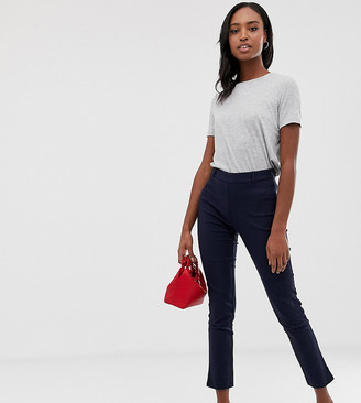 Y.A.S Tall trousers with side zip in navy
