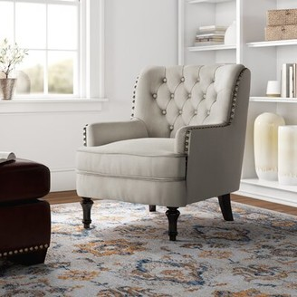 Three Posts Jayde Armchair Fabric: Beige/Rustic