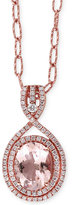 Effy Blush by Morganite (2-1/3 ct. t.w.) and Diamond (3/8 ct. t.w.) Pendant Necklace in 14k Rose Gold