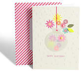 Marks and Spencer Paper Pop Vase Birthday Card