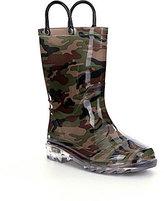 Western Chief Camo Boys' Light-Up Rain Boots