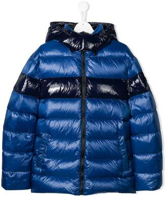 Fay Kids TEEN contrast quilted jacket