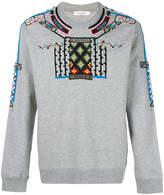 Valentino geometric embroidered sweatshirt