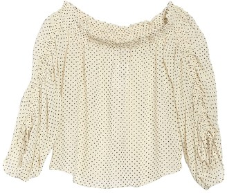FAVLUX Off-the-Shoulder Long Sleeve Blouse