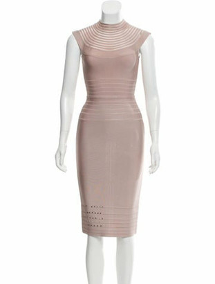 Herve Leger Bandage Dress Champagne