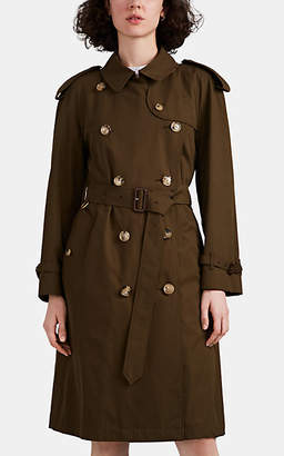 Burberry Women's Westminster Heritage Cotton Trench Coat - Olive