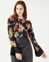 Star by Julien Macdonald Printed Frill Sleeve Jumper