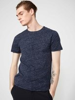 Frank + Oak Melange Loose Fit T-Shirt in Dark Jean
