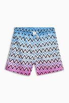Next Blue/Pink Zig Zag Print Swim Shorts (3mths-16yrs)