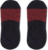 Pantherella - Striped Cotton-blend No-show Socks
