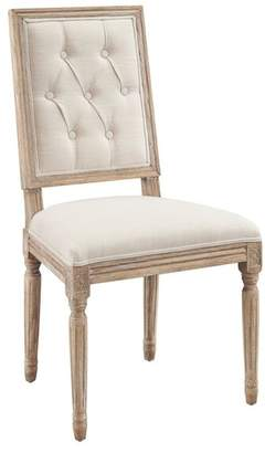 Linon Home Décor Products Avalon Tufted Square Back Dining Chairs, Set of 2
