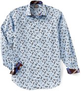 Thomas Dean Big & Tall Paisley Long-Sleeve Woven Shirt