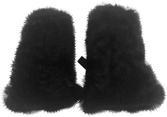 Prada Black Fur Gloves