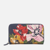 Joules Women's Fairford Print Purse - French Navy Posy
