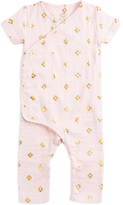 Aden Anais Primrose Geometric Metallic Kimono Playsuit - Infant