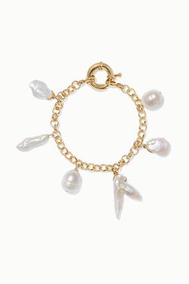 Eliou Deia Gold-plated Pearl Bracelet