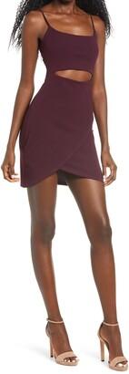 Lulus Cutout on the Town Cutout Body-Con Minidress