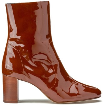 Jonak Didlun Patent Leather Ankle Boots with Block Heel