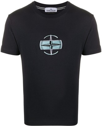 Stone Island Embroidered Logo T-Shirt