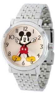 EWatchFactory Women's Disney Mickey Mouse Silver Bracelet Watch 38mm