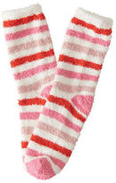 Aeropostale Womens Lld Striped Fuzzy Crew Socks