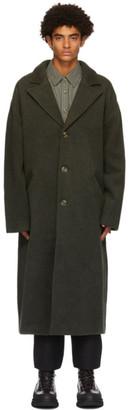 Han Kjobenhavn Khaki Wool Boxy Coat