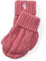 Ralph Lauren Cable-Knit Cotton Mittens