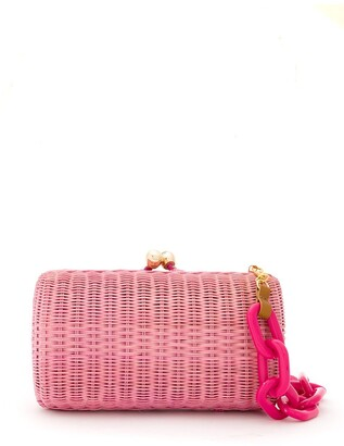 Serpui Marie Wicker Clutch Bag