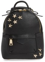 BP Mini Star Stud Faux Leather Backpack - Black