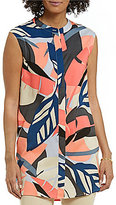 Vince Camuto Sleeveless Modern Tropics Button Front Tunic