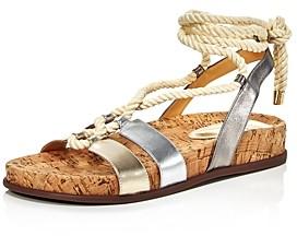 Alexandre Birman Women's Faye Metallic Ankle Tie Sandals