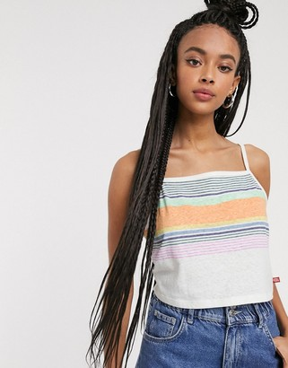 Dickies striped cami top with logo