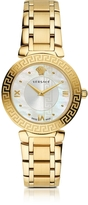Versace Daphnis PVD Gold Plated Women's Watch w/Greek Engraving