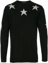 GUILD PRIME star intarsia knit jumper