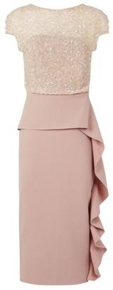 Rachel Gilbert Ginger Sequin Midi Dress