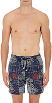 Vilebrequin Men's Sonar-Print Swim Trunks-NAVY