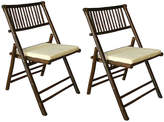 One Kings Lane Set of 2 Champion Side Chairs - Espresso