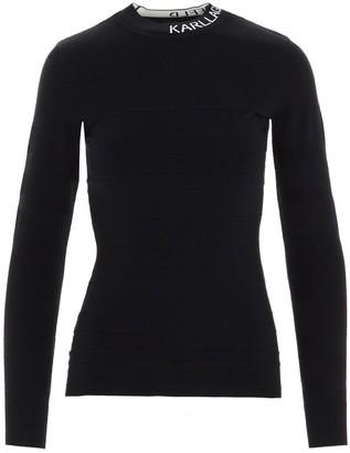 Karl Lagerfeld Paris Logo Collar Sweater