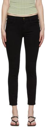 Frame Black Le Skinny De Jeanne Crop Jeans