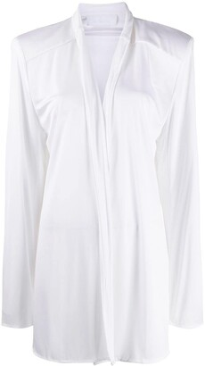 NO KA 'OI Exaggerated-Shoulder Open-Front Jacket