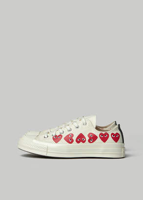 Comme des Garcons Play Converse Low Chuck Taylor Multi Heart Sneaker