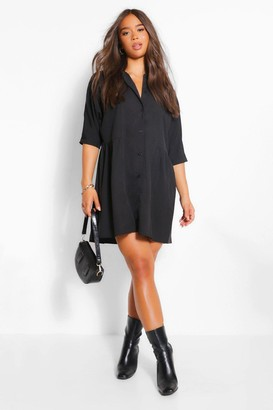 boohoo 3/4 Sleeve Shirt Dress