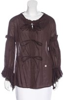 Roberto Cavalli Pleated Long Sleeve Blouse w/ Tags