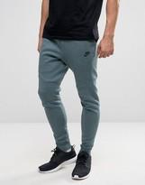 Nike Tech Fleece Skinny Joggers In Green 805162-386