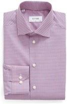 Eton Men's Big & Tall Slim Fit Check Dress Shirt