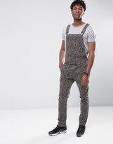 Asos Denim Overalls With Zips In Camo