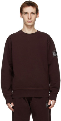 Helmut Lang Burgundy Patch Sweatshirt