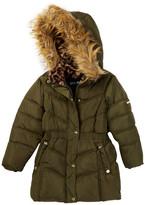 Steve Madden Bubble Faux Fur Hooded Parka (Toddler Girls)