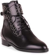 Alaia Black leather studded boot